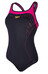 speedo SpeedoFit Kickback Endurance + Swimsuit Women black/magenta/orange